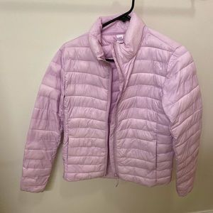 Old navy XS puffer compact jacket coat purple